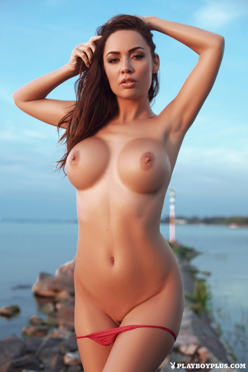 adrienn-levai-nude-lake-dusk-playboy-13