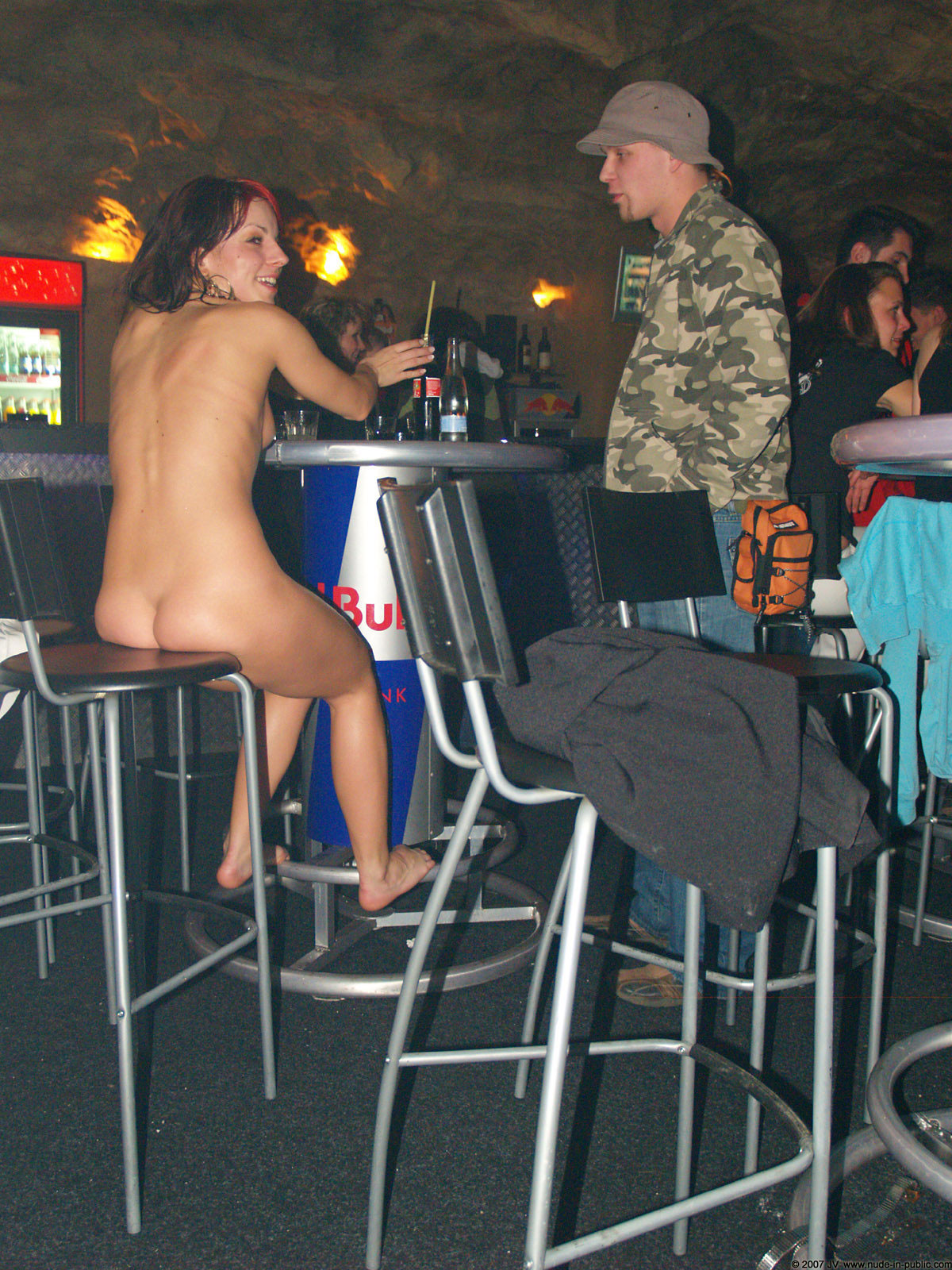 Nude night club party