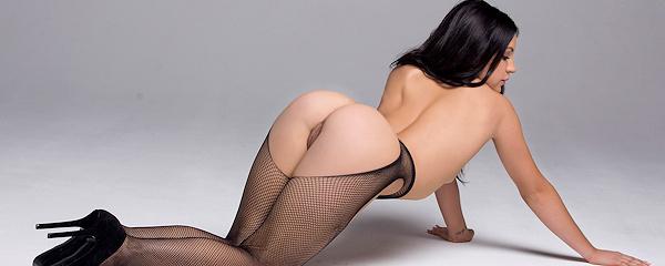 Alessandra Iltis in fishnet pantyhose