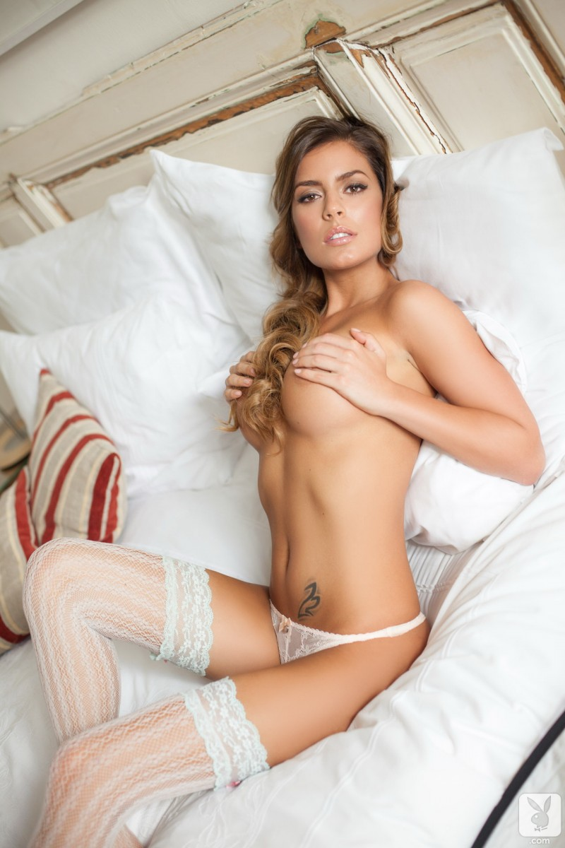 szandra-white-lingerie-stockings-naked-playboy-10