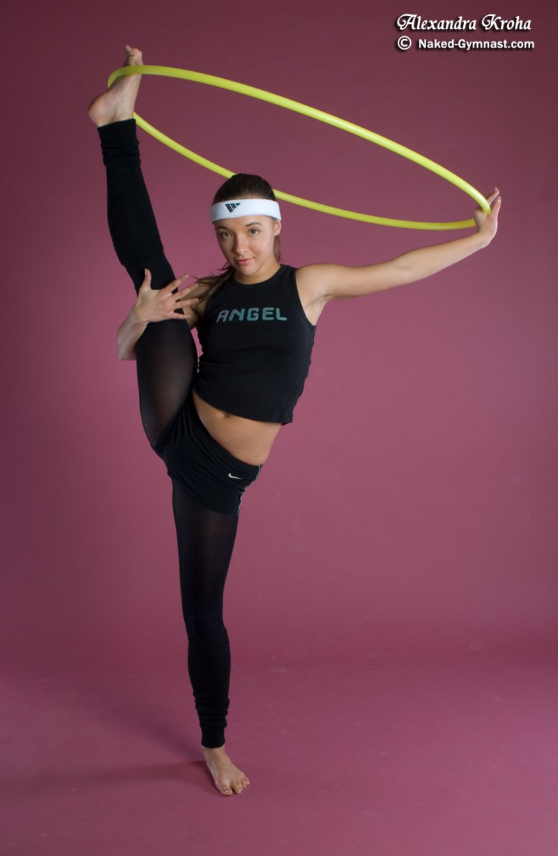 Gymnast alexandra kroha obvious, you