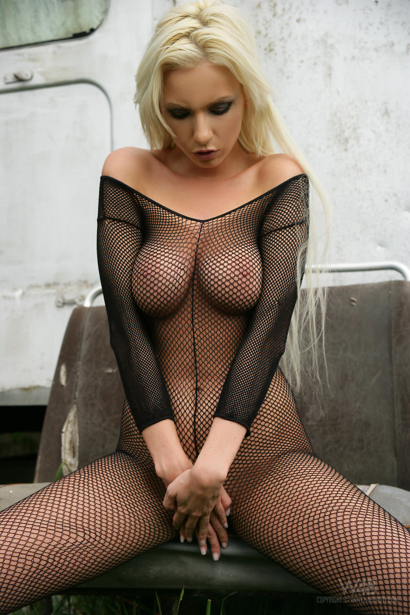 Lingerie fishnet bodystocking sex think