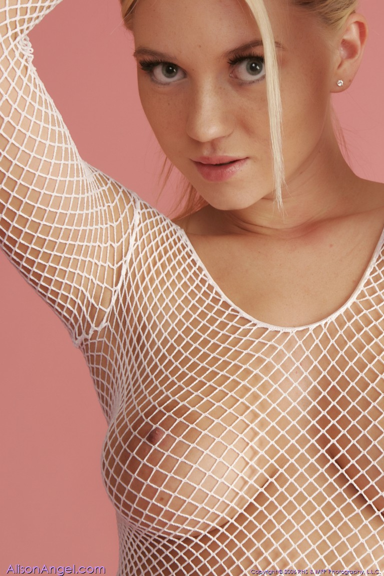 Fishnet alison angel white