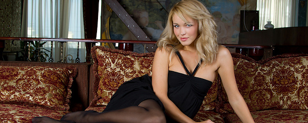 Alissa in black stockings