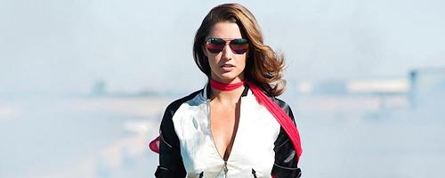 Alyssa Arce on the racetrack