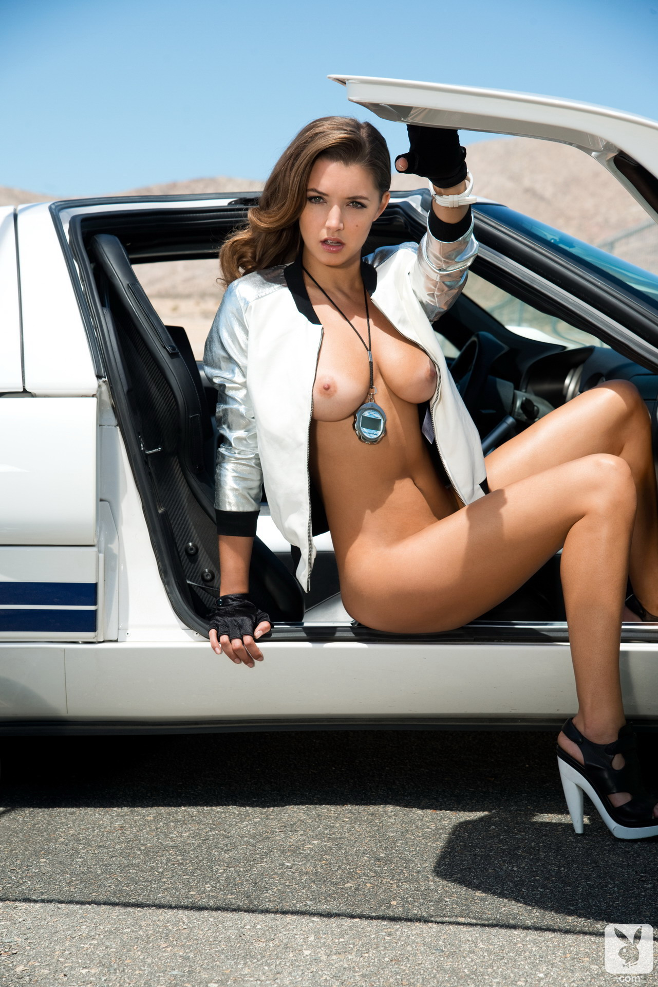 Hot babe in camaro sees my dick 3