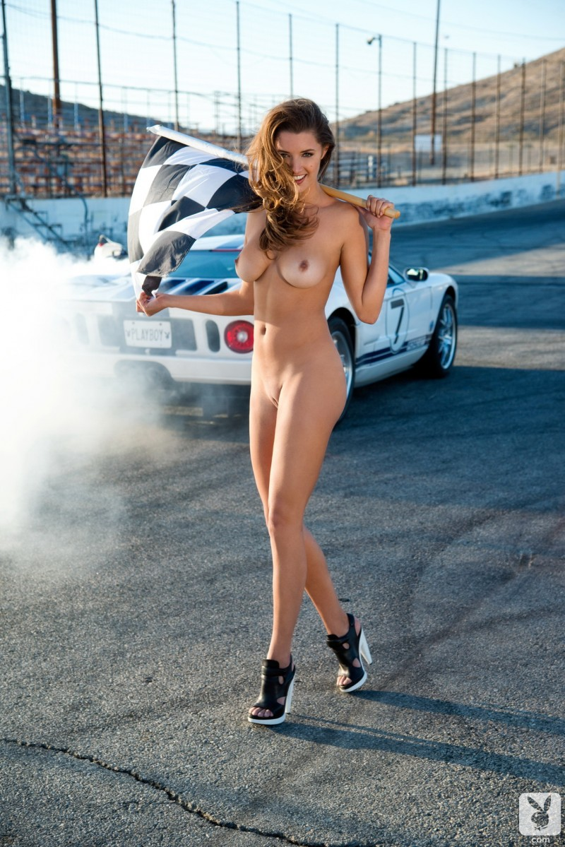 Are Naked race car girl for the