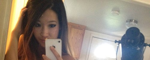 Amateur asian teen self shot
