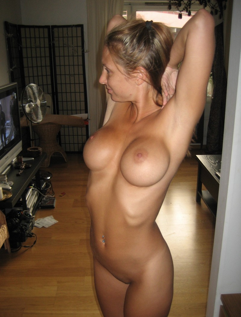 Up amateur covering naked woman