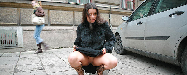 Angela on the streets of Cracow