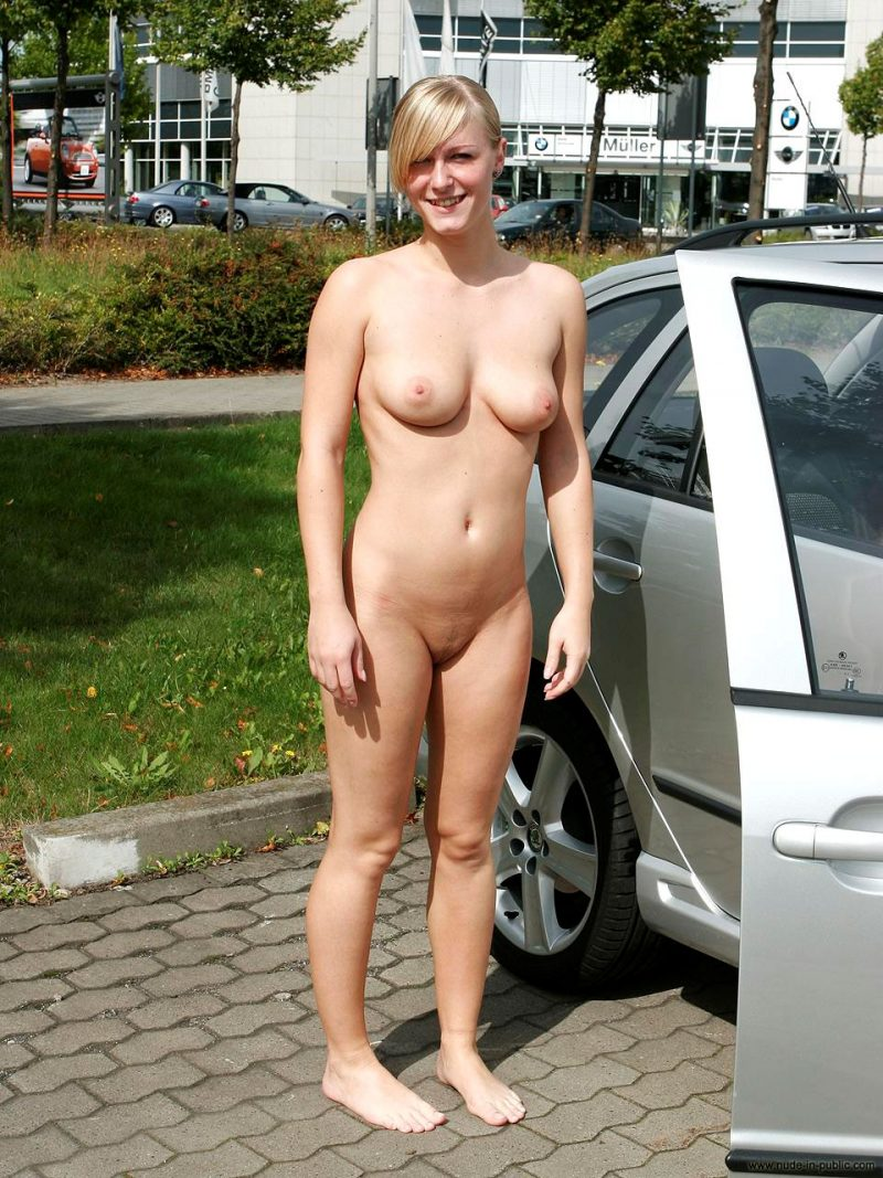 Real nude in public