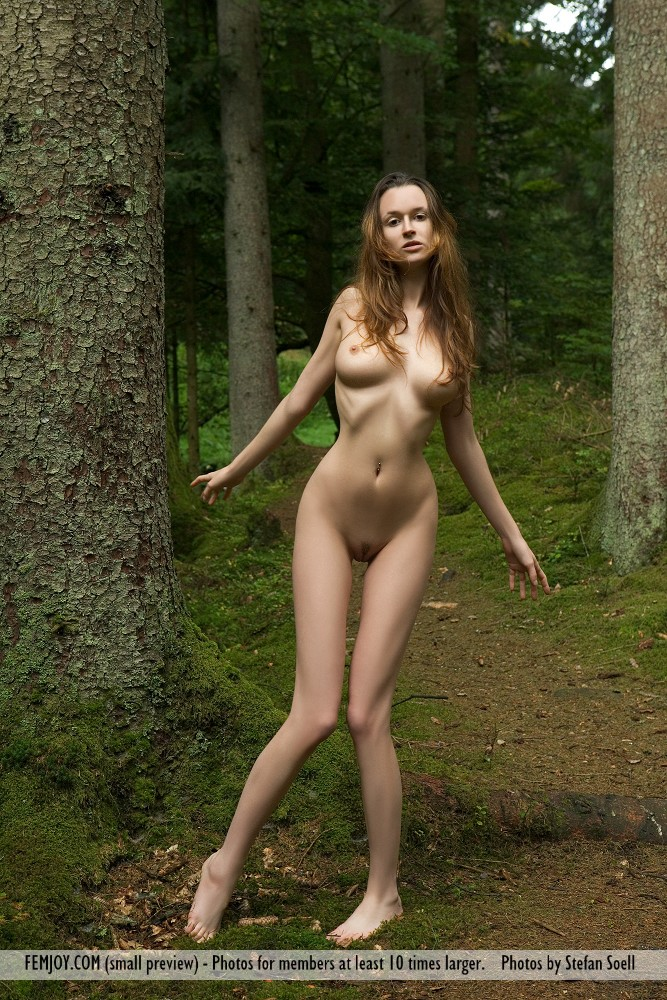 Girls woods skinny naked in
