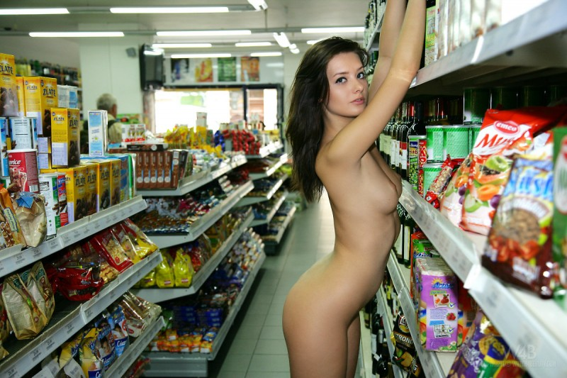 Girls nude grocery shopping join. happens