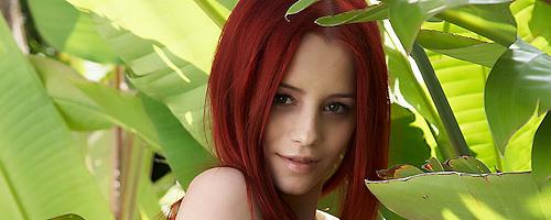 Ariel nude in the garden