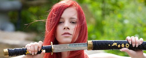 Ariel – Sexy redhead samurai
