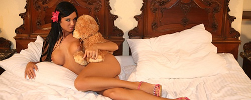 Ashley Bulgari & teddy bear