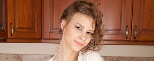 Beata Undine in the kitchen
