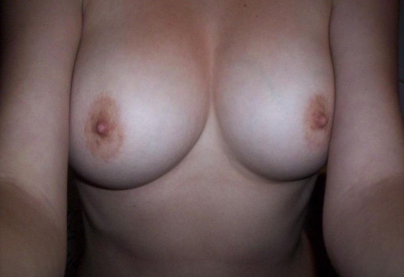 Amateur tits up close