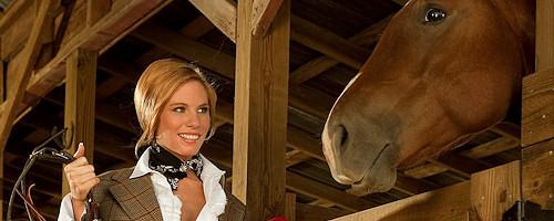 Bree Morgan in stable