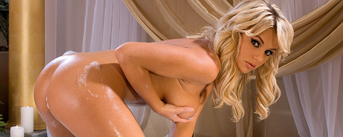 Bree Olson takes a bath