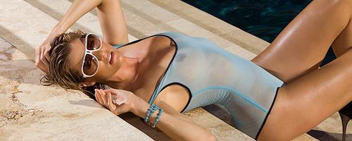 Brigitte Anne by the pool