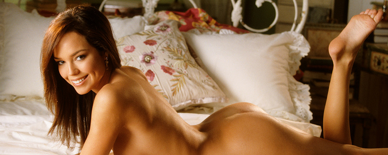 Brittany Binger in bedroom