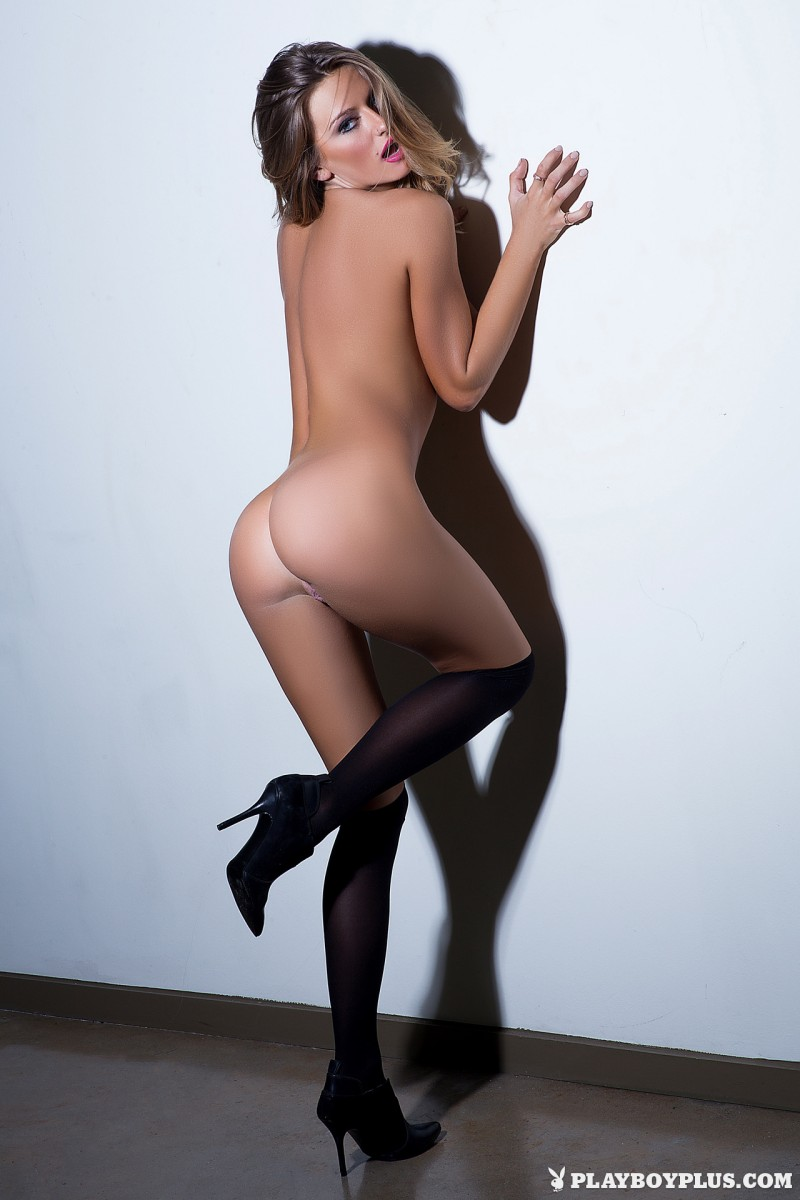 brittney-shumaker-knee-socks-high-heels-naked-playboy-16