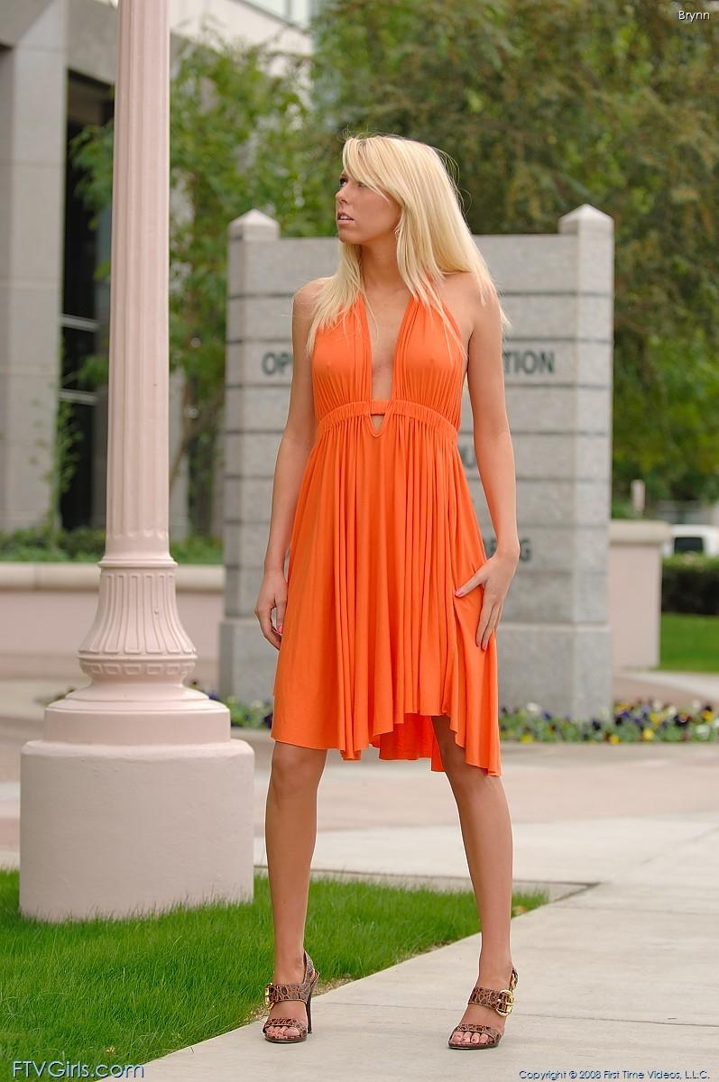 brynn-flash-in-public-bottomless-orange-dress-ftvgirls-46