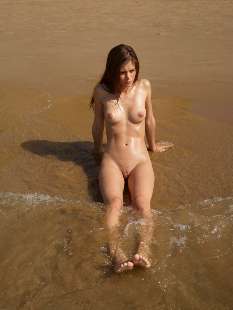 Girls at beach little nudist