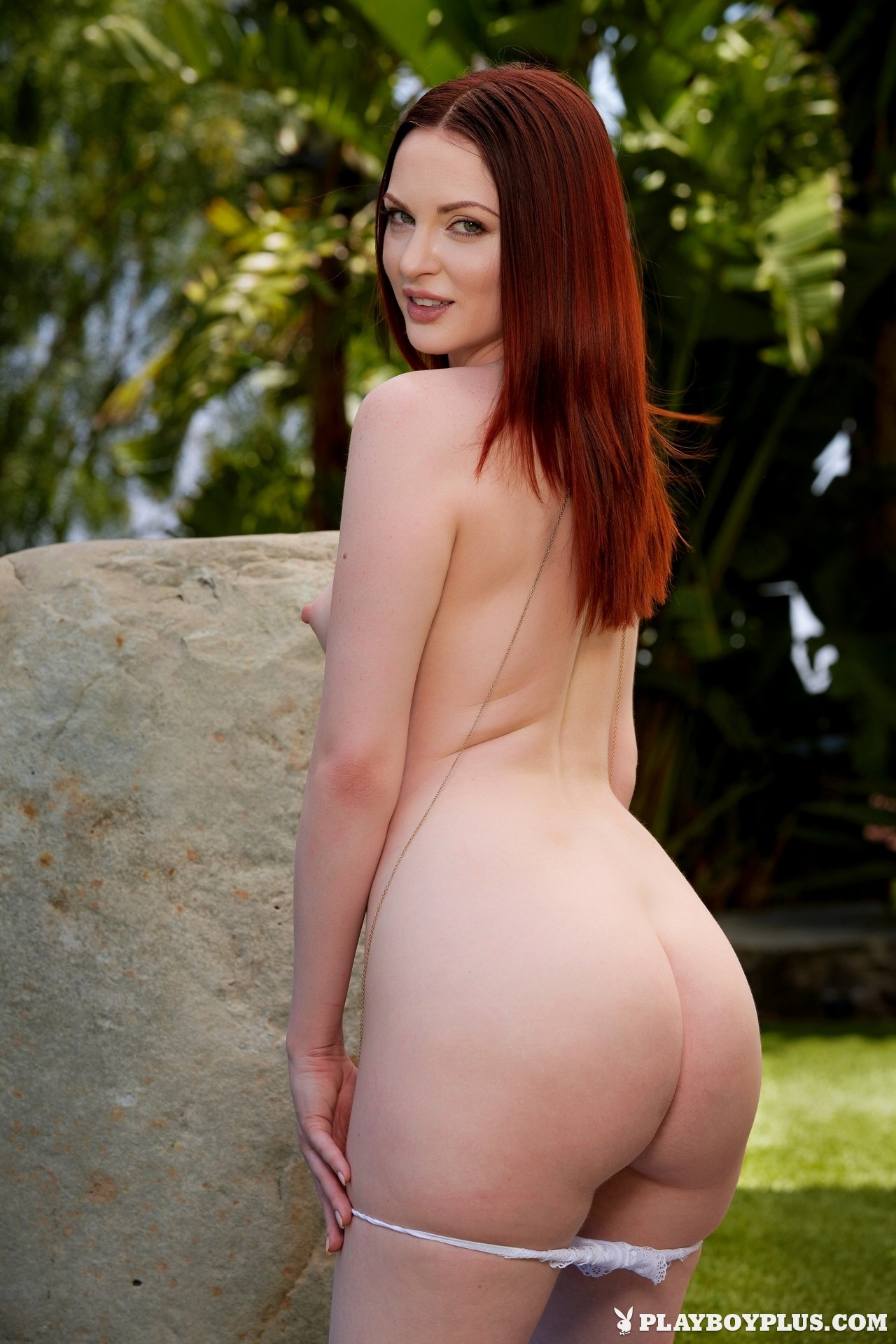 Carissa white redhead nude ass lawn small tits playboy 14