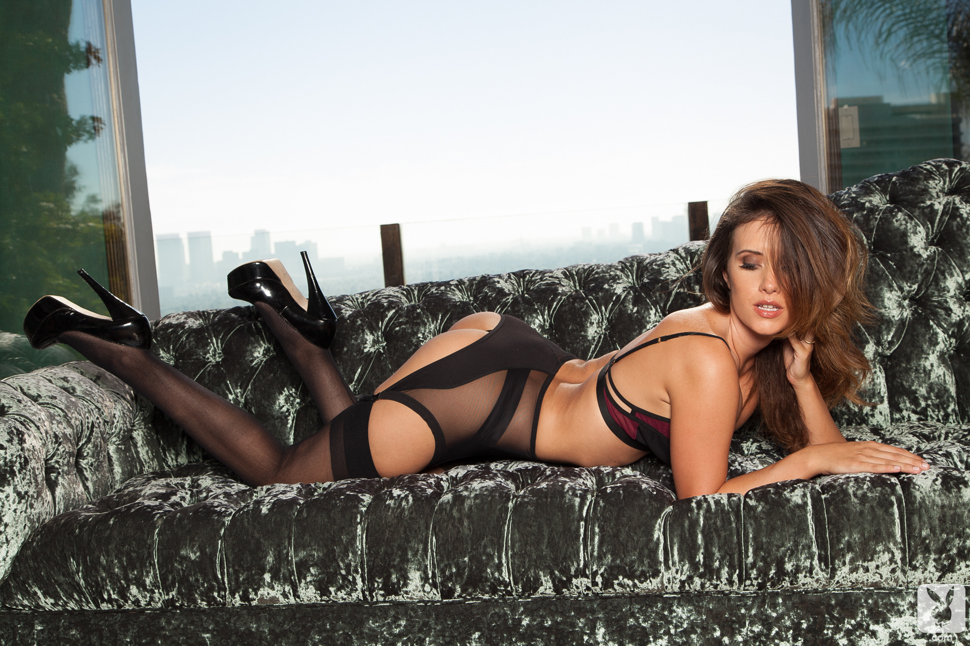 stockings Playboy heels lingerie and high