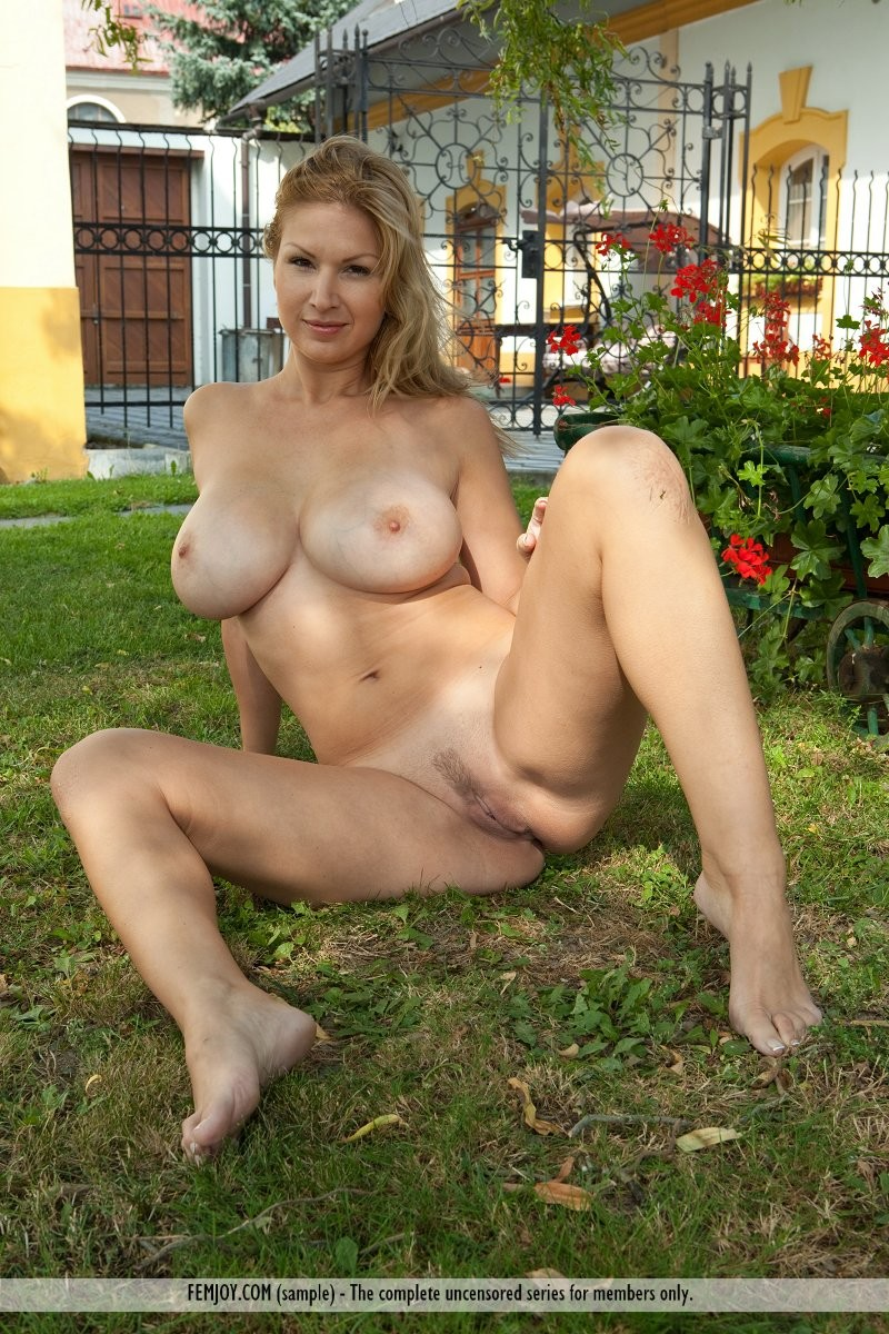 Naked in the backyard can
