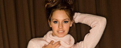 Cassie Keller in pink sweater