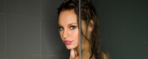 Cassie Keller in the shower