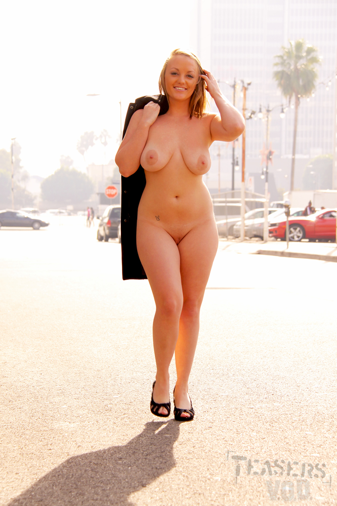 Fat girl naked in public