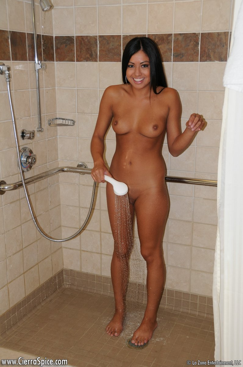 Coed nude in shower