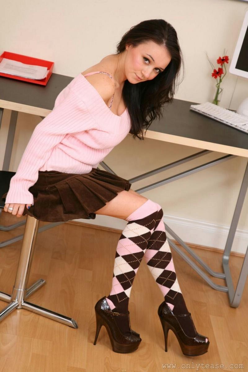 clair-meek-socks-pink-sweater-boobs-onlytease-04