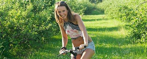 Coco on bike