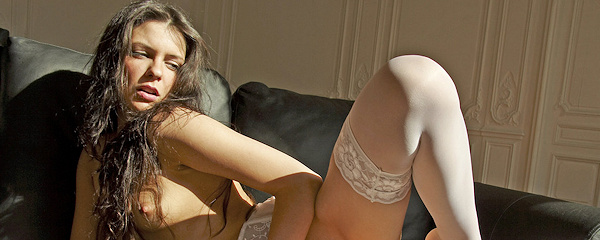 Cofi Milan in white stockings