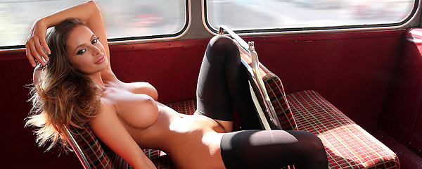 Dana Harem in double decker bus