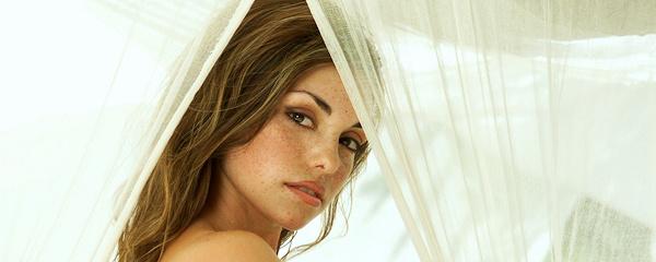 Danielle Gamba in white fishnet