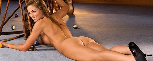 Danielle Richardson at the pool table