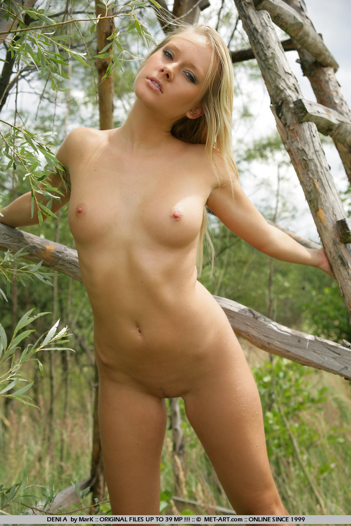 Naked in a deer stand are