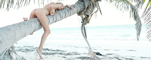 Denisa Markova on tropical island