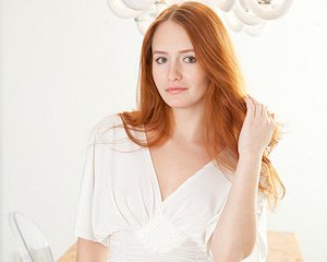 denisa-white-dress-redhead-naked-metart