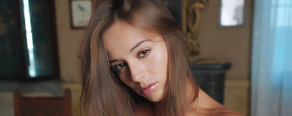 Dominika naked on the table