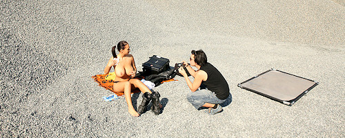 Dominno – Photo session in gravel pit