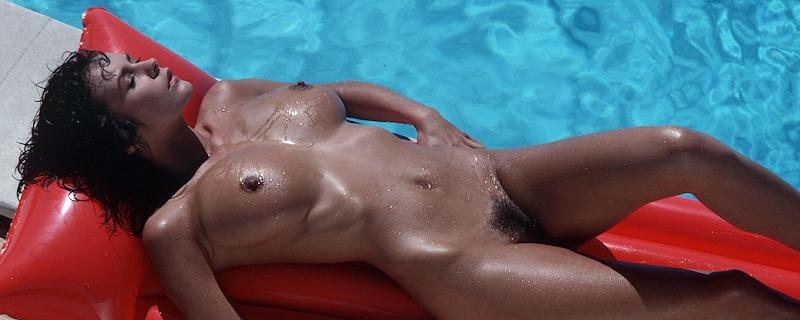 Donna Ewin in the pool