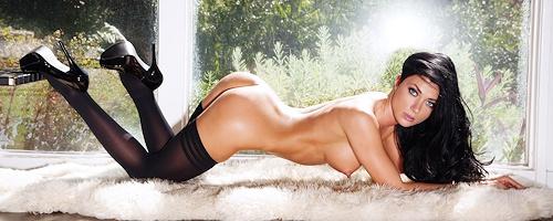 Elena Romanova in black stockings