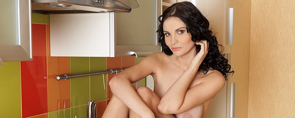 Eliana in the kitchen